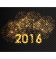 Happy new year 2016 written with Sparkle firework vector image