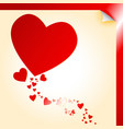 Heart shape decal vector image vector image