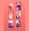 human life concept outer wall house vector image