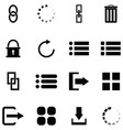 interface icon set vector image vector image