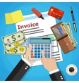 invoice payment design vector image vector image