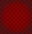 Lumberjack checkered diagonal square plaid red vector image vector image