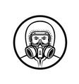 medical professional wearing rpe mascot vector image vector image