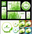 mega set of green summer nature concepts vector image vector image