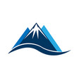 mointains logo symbol vector image vector image