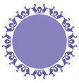 ornamental circle design vector image vector image