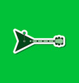 paper sticker on stylish background guitar vector image vector image