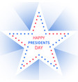 presidents day banner in form of star vector image vector image