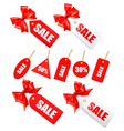 Red bow with card sale vector | Price: 1 Credit (USD $1)
