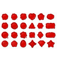 red wax seal stamps set vector image