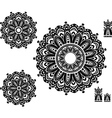 Round Ornament Pattern with pattern brash vector image