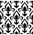 Seamless fleur-de-lis royal black pattern vector image vector image