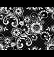 seamless lace retro pattern - detailed repe vector image vector image