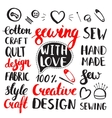 Set of vintage hand drawing elements vector image vector image