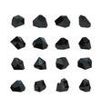 set various black coal vector image