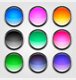 shiny colorful empty buttons set vector image vector image
