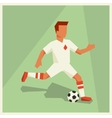 soccer player in flat design style vector image vector image