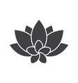 spa salon flowers glyph icon vector image vector image