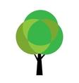Stylized tree vector image vector image