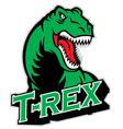 t-rex mascot vector image vector image