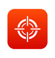 target icon digital red vector image