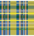 Tartan blue and yellow seamless pattern vector image vector image