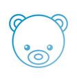 teddy bear head cute animal toy vector image vector image
