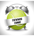 Tennis time vector image vector image