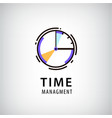 time management logo vector image