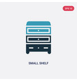 two color small shelf icon from other concept vector image vector image