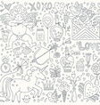 Valentines Day Doodle Collection vector image vector image
