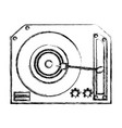 vinyl turntable isolated vector image