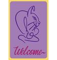 Welcome rabbit vector image vector image