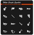 wind instruments icon set vector image