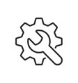 wrench and gear icon logotype vector image