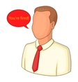 You are fired icon cartoon style vector image