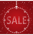 Christmas sale red design template vector image