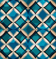 vintage blue mosaic seamless pattern with grunge vector image