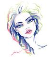 beautiful fashion girl vector image