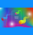 abstract vibrant background design with liquid vector image vector image