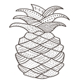 Adult coloring book page Pineapple Whimsical line vector image