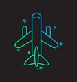 aeroplane icon design vector image vector image
