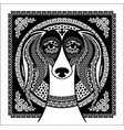 arabic ornament image of an arabian saluki vector image vector image