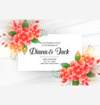 beautiful wedding invitation card with flower vector image vector image