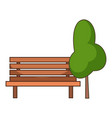 bench tree icon cartoon style vector image