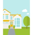 Big house with trees vector image