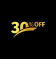 black banner discount purchase 30 percent sale vector image