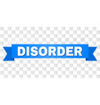blue ribbon with disorder caption vector image