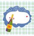 Bottle of champagne and frame vector image vector image