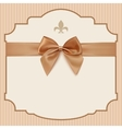 bowWedding Invitation Card Vintage greeting card vector image